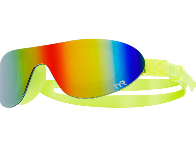 TYR Swimshades Mirrored Svømmebriller, rainbow/flou yellow